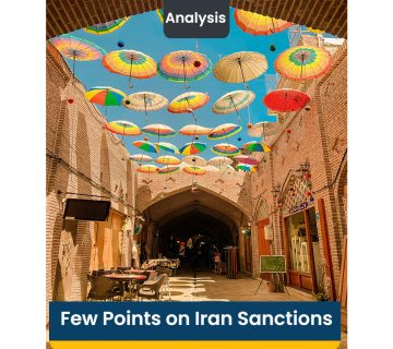 Few Points on Iran Sanctions